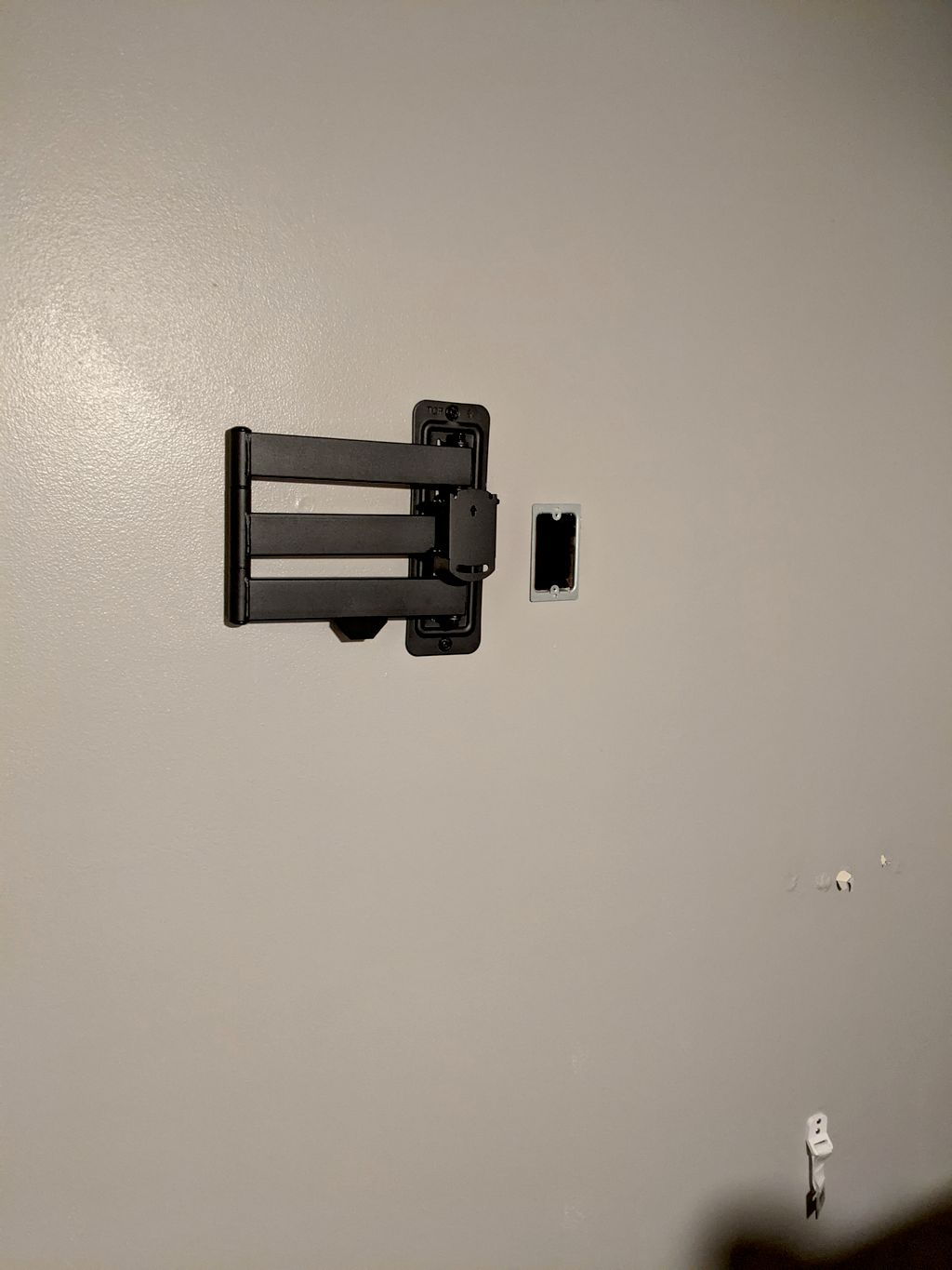 55 inch TV mount Outlet Add on