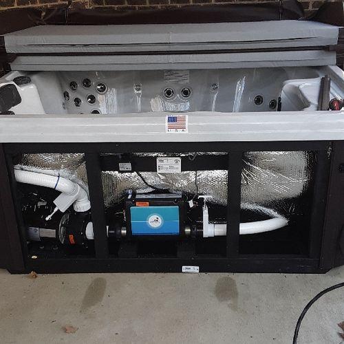 Hot tub wiring installation