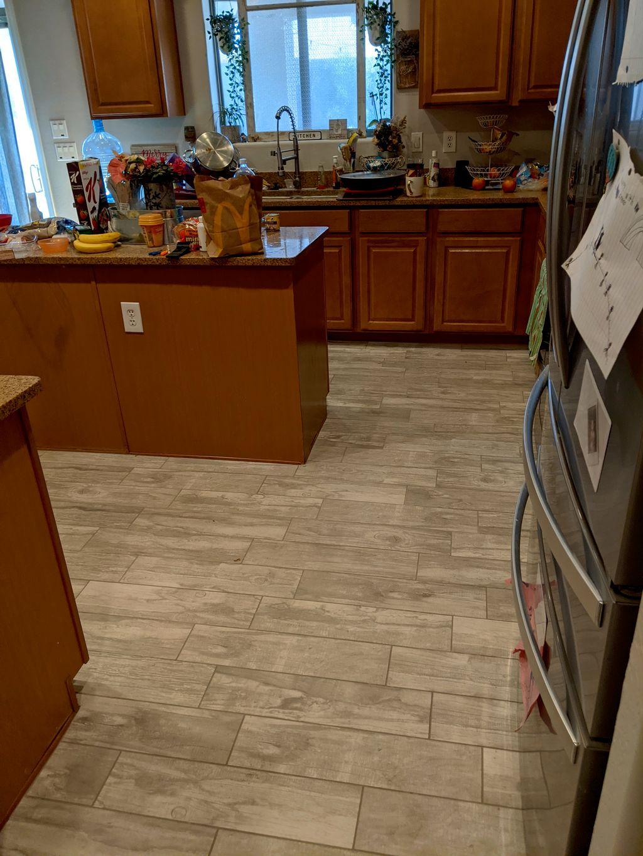 1300sqft of tile installed