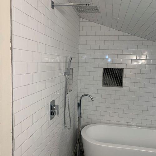 Master shower remodel