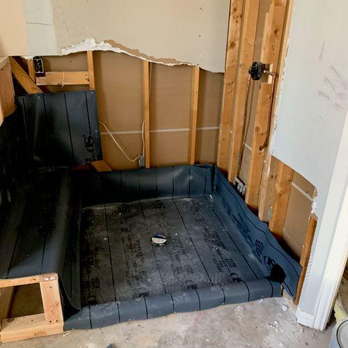 Master shower pan liner