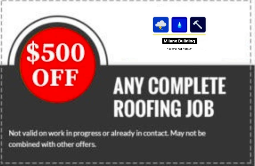 500 OFF ANY NEW ROOF