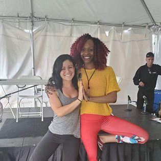 Teaching at a local festival