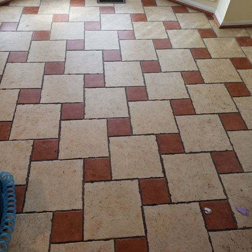 Tileand grout cleaning before