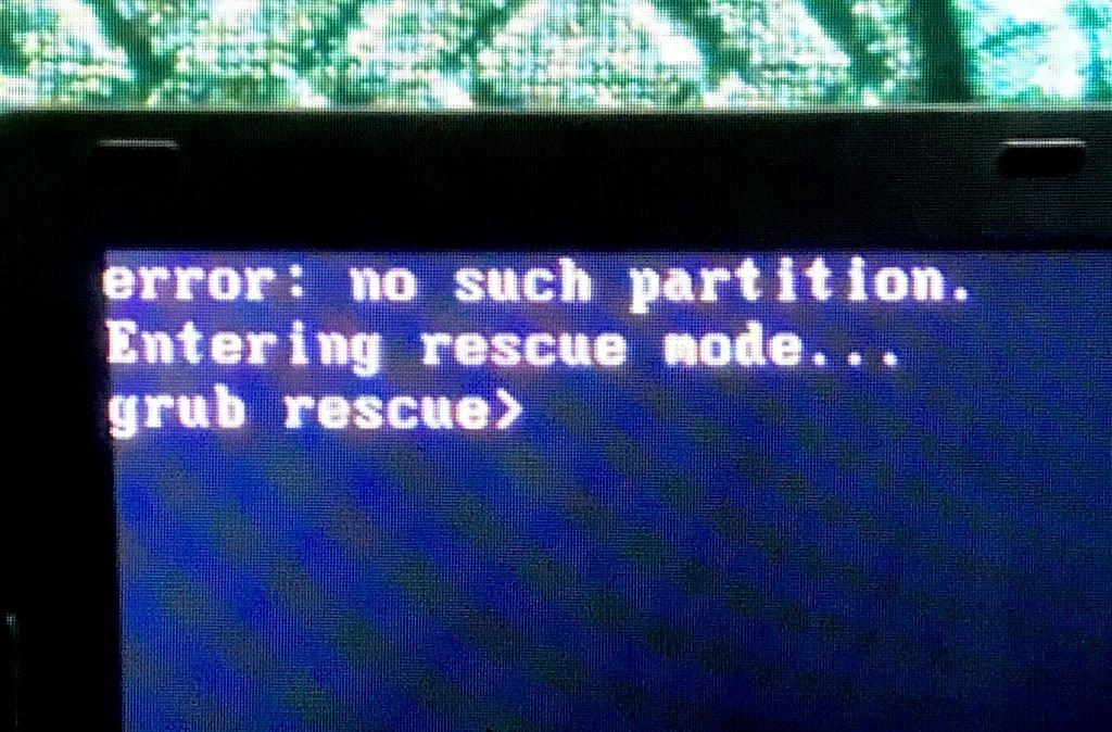 Grub Error - Rescued