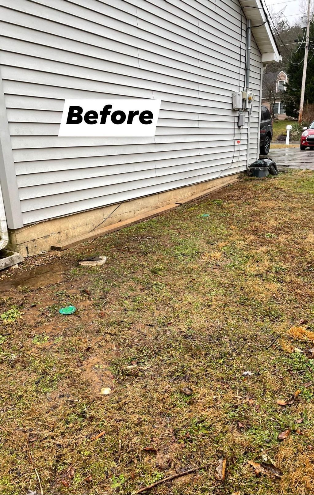 Mulch Bed Design for Side of House