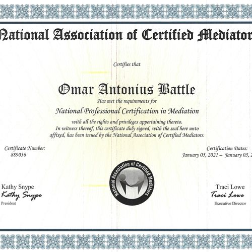 National Professional Certification