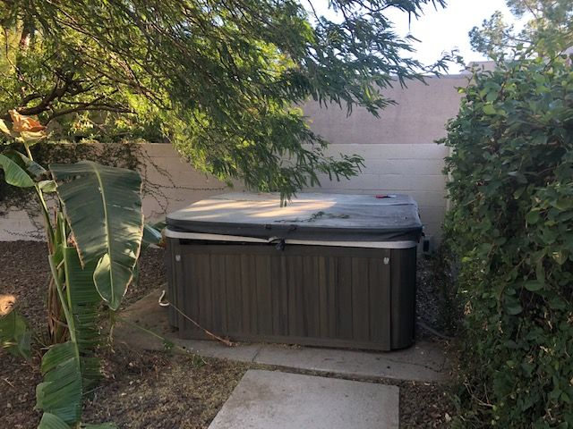 Hot Tub Demp and Removal
