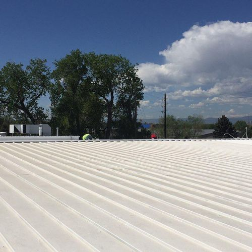Commercial Metal Gaco roof complete