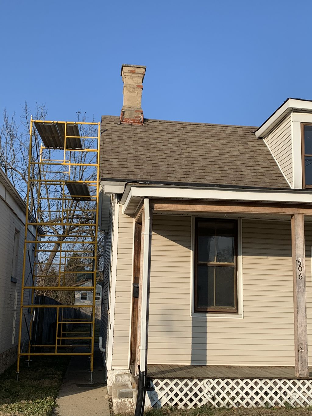 Chimney removal and home remodel