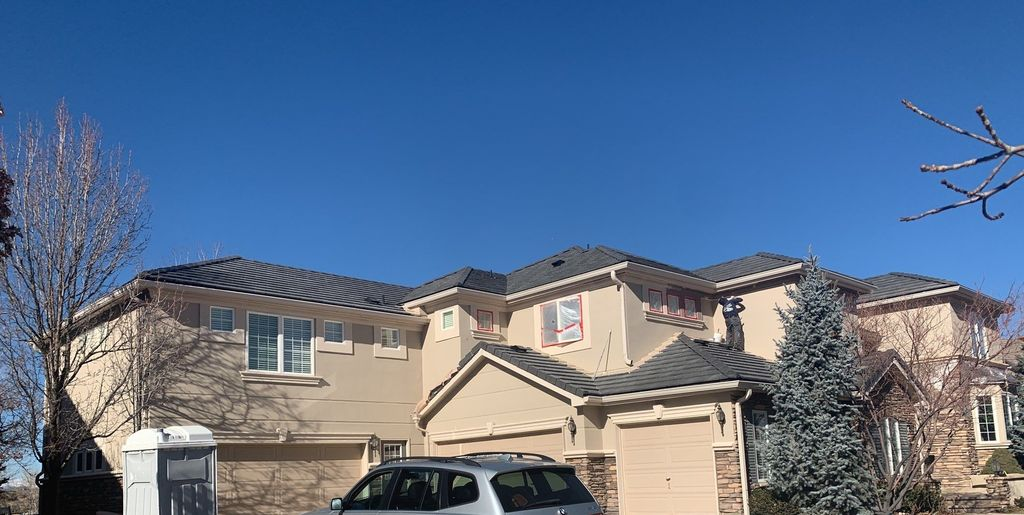 Roof, Stucco, Gutters and Paint