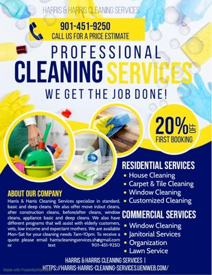 Avatar for Harris & Harris Cleaning Service
