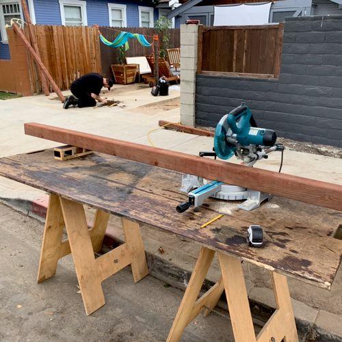 Custom fence build