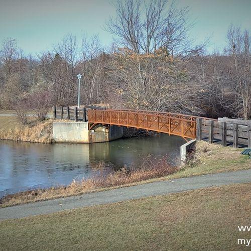 Walk over bridge at park in Sayreville
