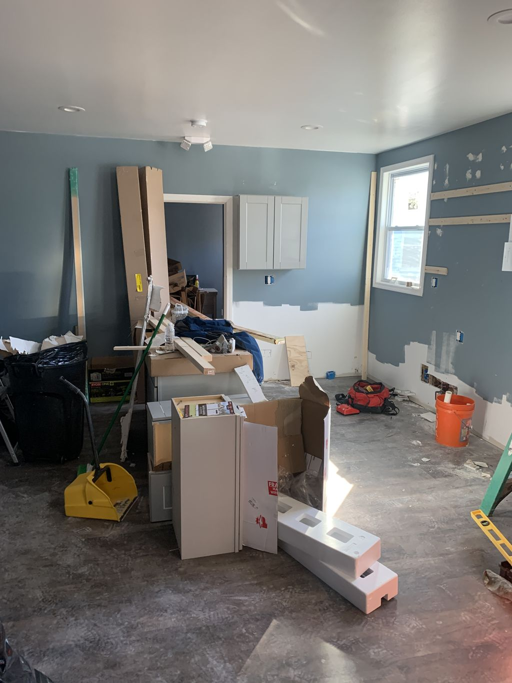 Adding kitchen and stand up shower