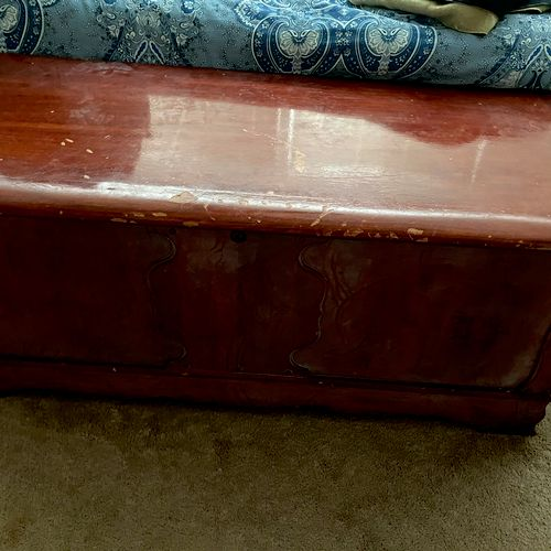 Client purchased a cedar chest several years ago that was not in great shape.