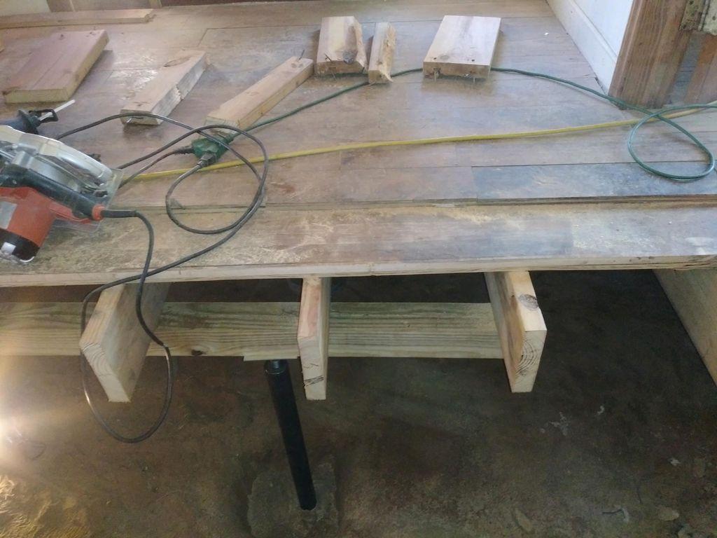 Repair floor joists and beams