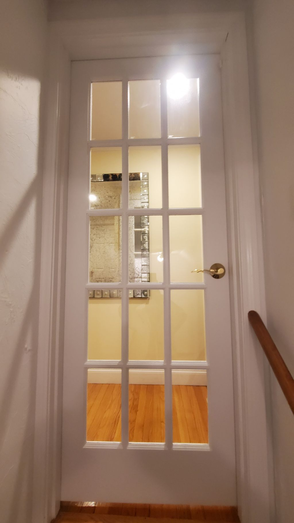 New door painting and installation