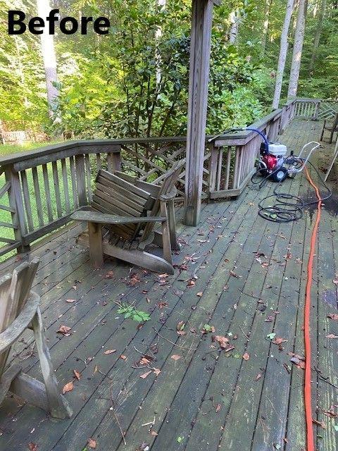 Pressure Washed Deck & More
