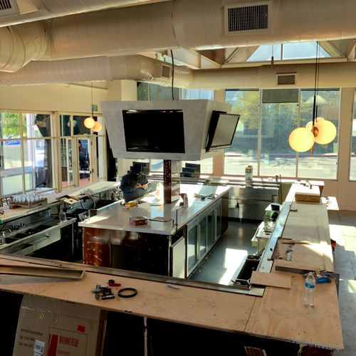 400 square foot countertop prep work.