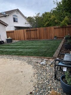 Old grass removal new irrigation system as well as new sod