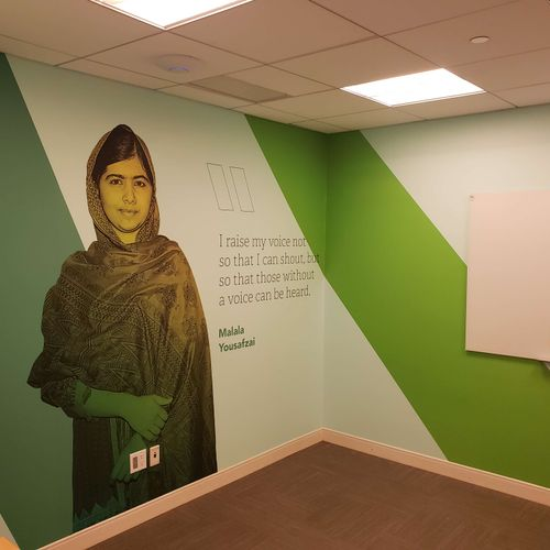 Rebranding with #wallmurals #wallcovers