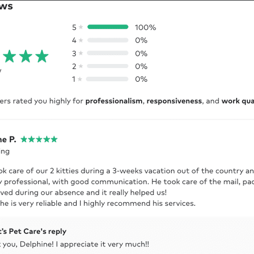 Review from old profile