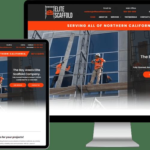 Website designed & built for Elite Scaffold