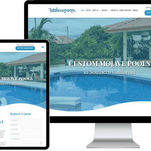Website designed & built for Custom Mojave Pools