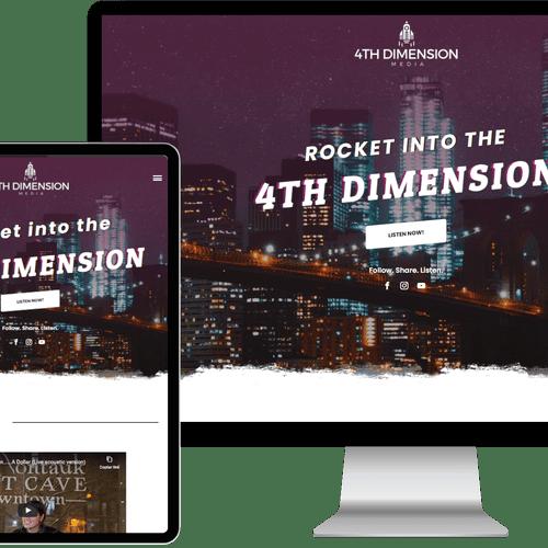 Website designed & built for 4th Dimension Media