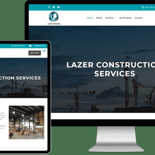 Website designed & built for Lazer Construction Services