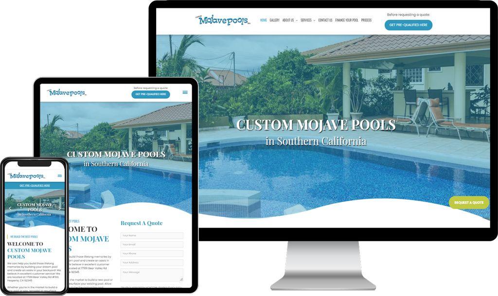 Web Design & Development for Custom Mojave Pools