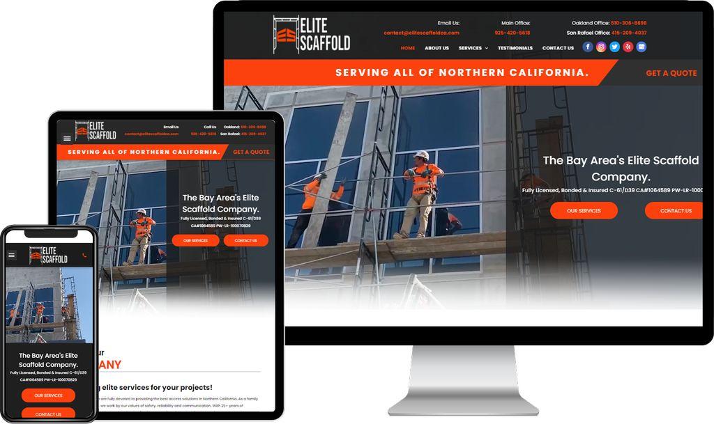 Web Design & Development for Elite Scaffold