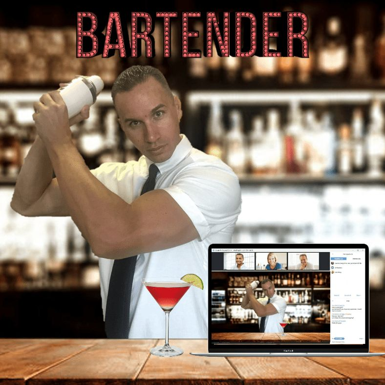 Mobile, Live & Virtual Bartenders - Book Now