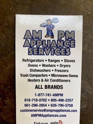 Avatar for AMPM Appliance Service