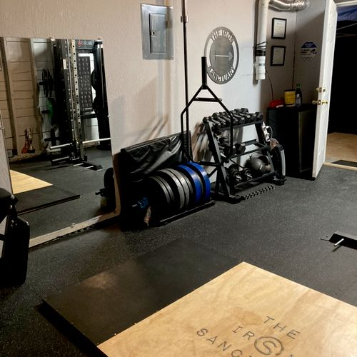The Iron Sanctuary Gym Garage - train safely and privately