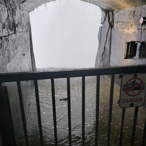 under/behind Niagara Falls