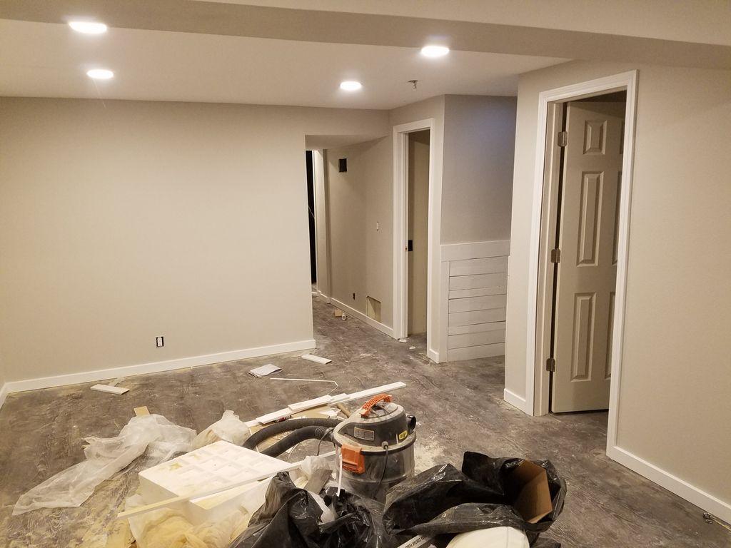 Baseboard and door trim install