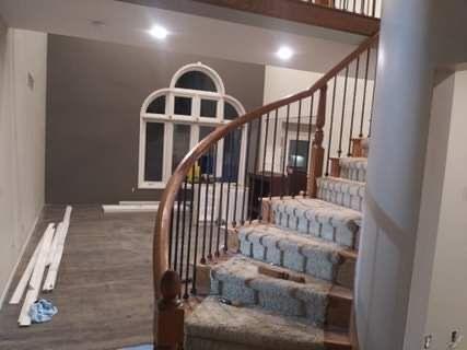 Stairway Rail Installation