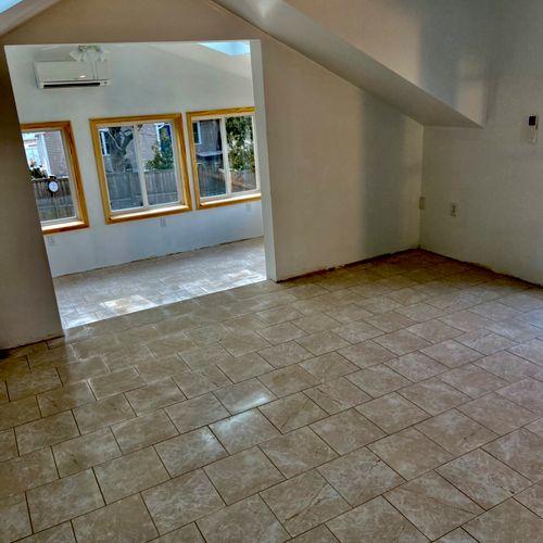 12x12 ceramic tile. floor installation