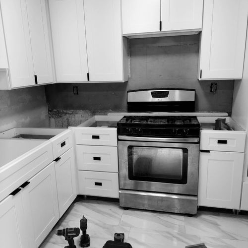 New floors and Cabinets