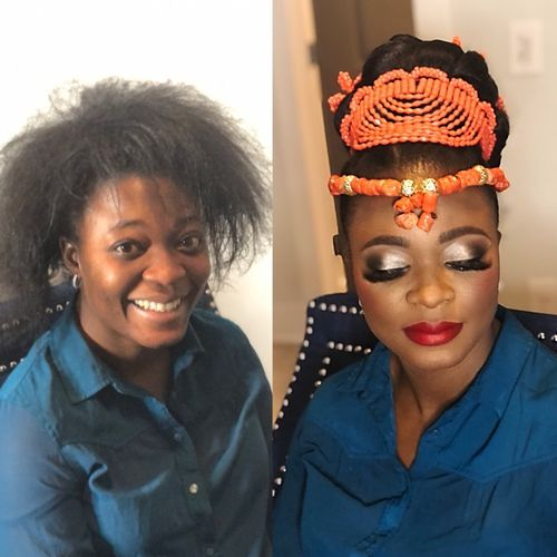 African Traditional Hair and Makeup