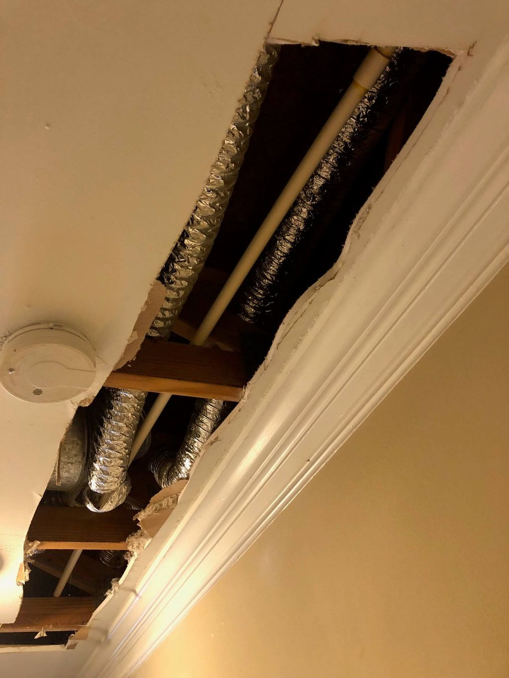 Replace flex dryer vent duct with hard vent duct