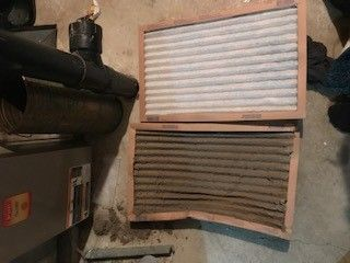 Used and New Furnace Filters
