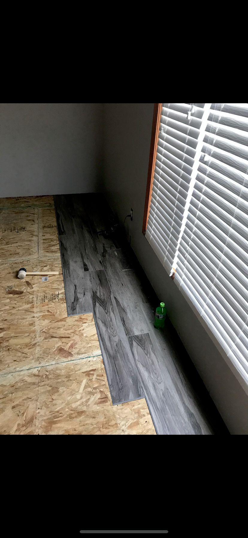 We Raised the Living Room Floor & installed Vinyl Planks