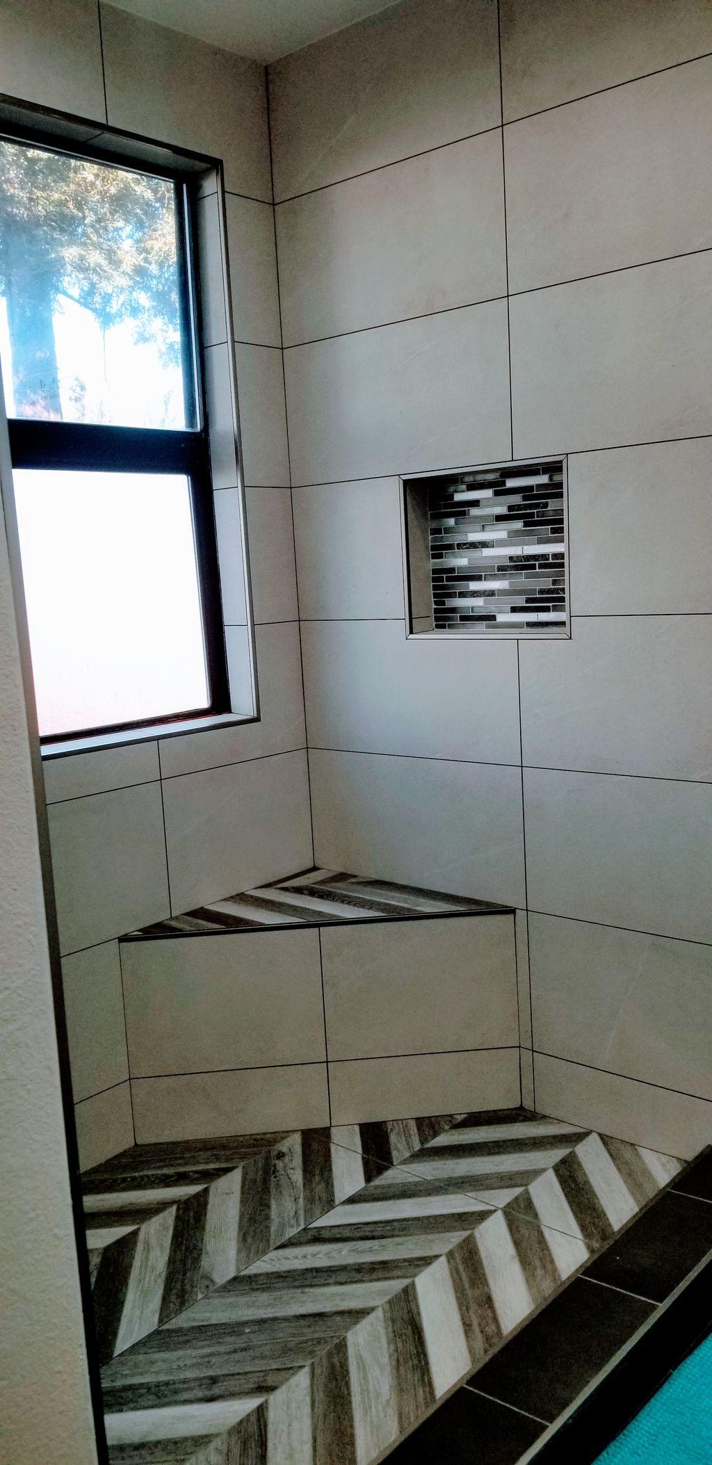 Beautiful custom shower remodeled in San Jose