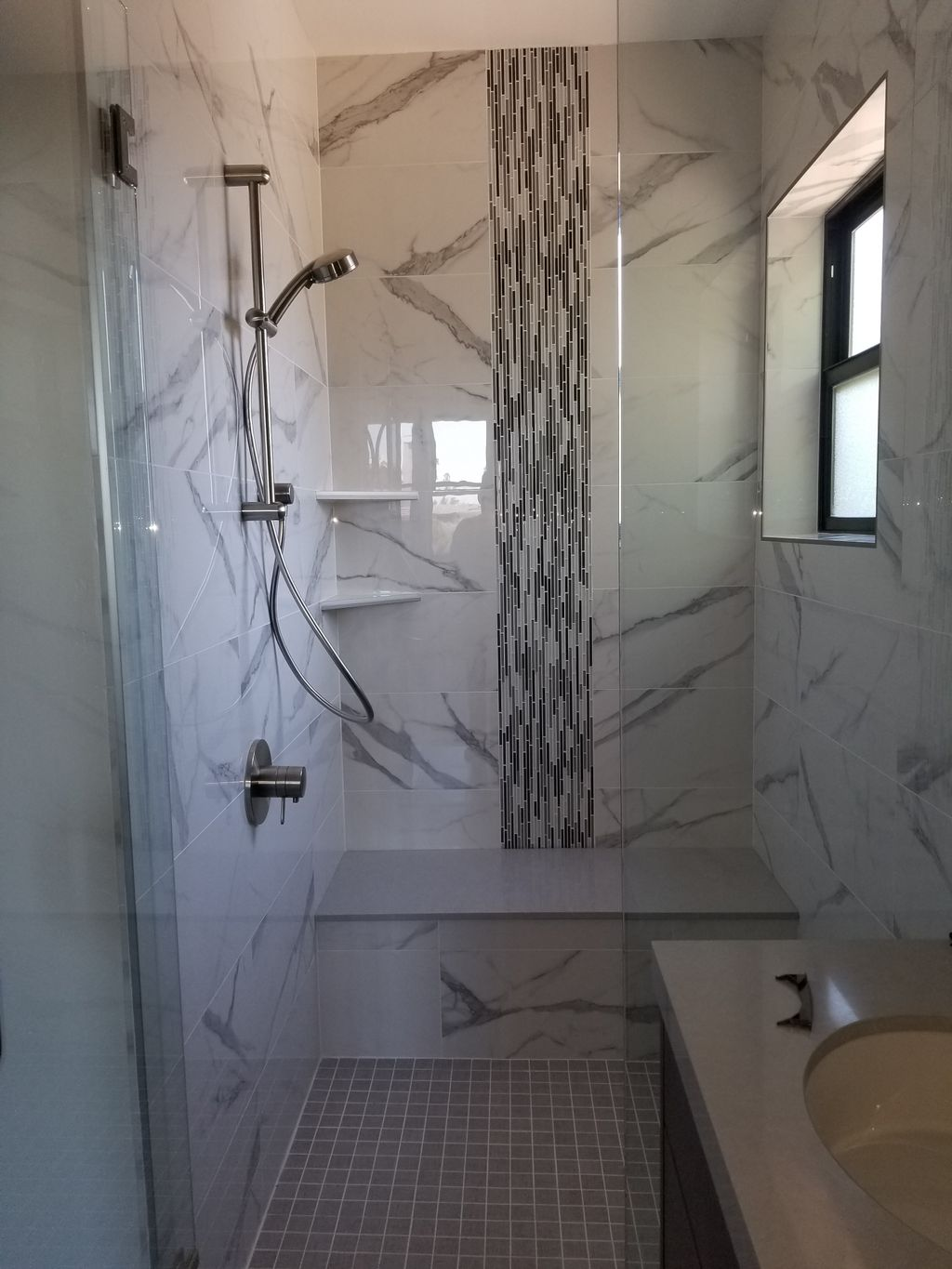 Shower remodeled by Olimpus Custom Home