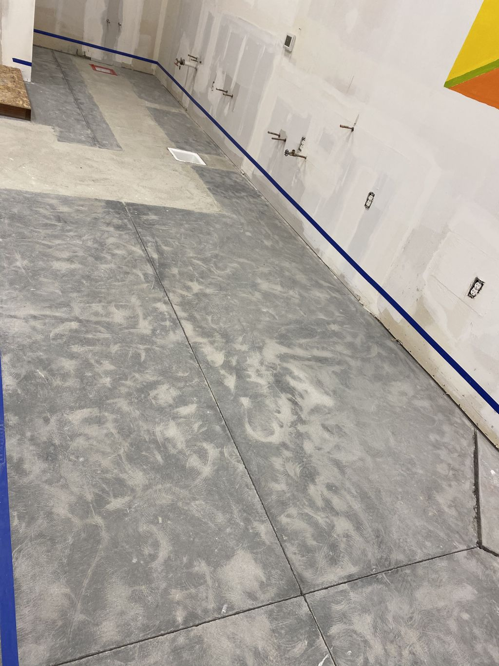 Epoxy coating before and after