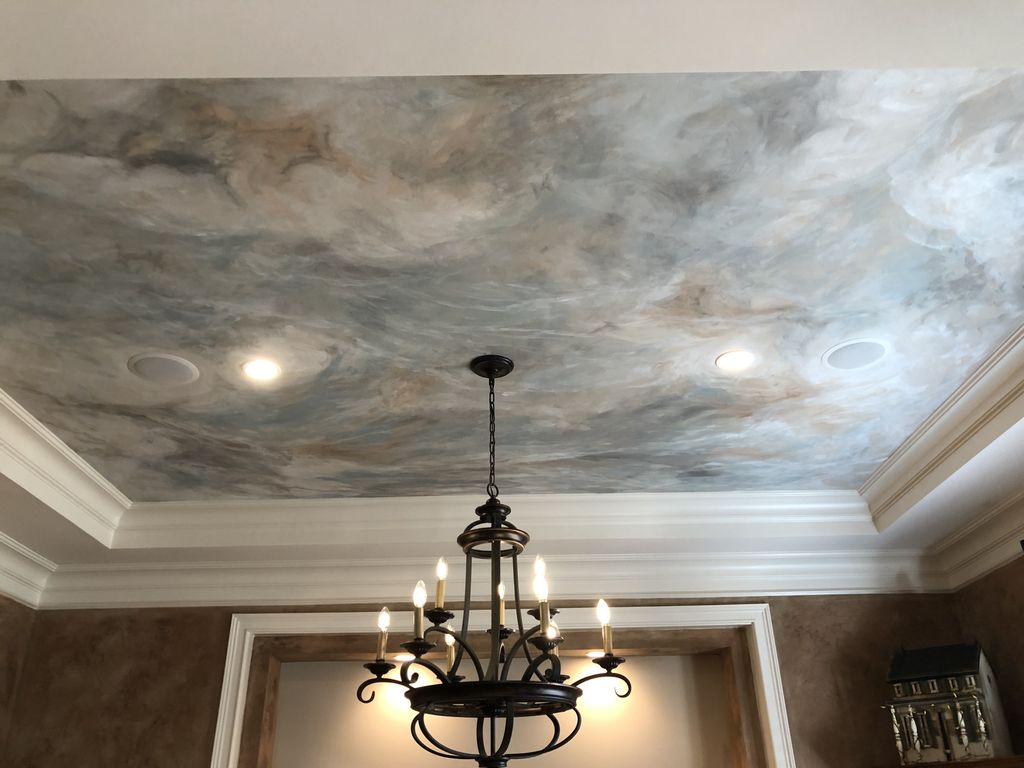 Mural painted in Dining Room