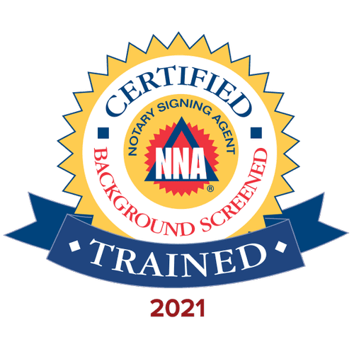 Trained and certified Notary Signing Agent